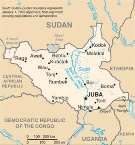 Map Tonj