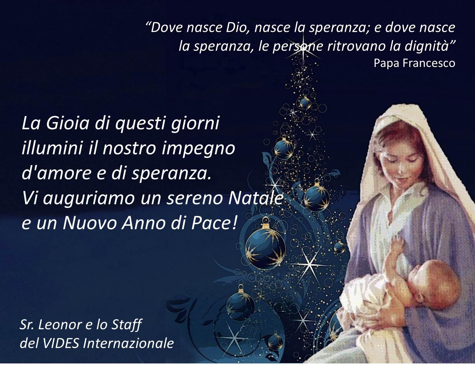 Auguri Di Natale Papa Francesco.Auguri Di Buon Natale 2016 Vides